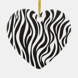 Zebra Design Christmas Ornament
