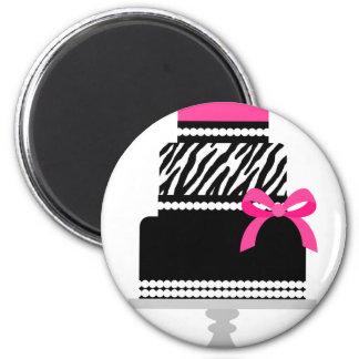 Zebra Diva Cake Magnet