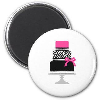 Zebra Diva Cake Magnets