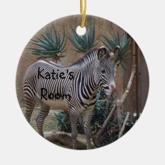 Zebra Door Hanger Ornament