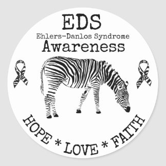 Zebra Ehlers-Danlos syndrome EDS Sticker