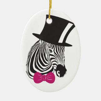 Zebra Elegant Unique Ceramic Oval Decoration