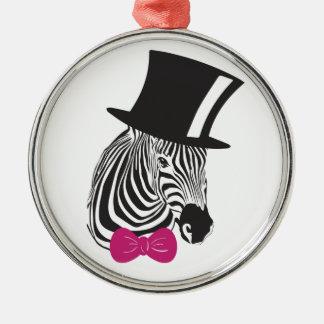 Zebra Elegant Unique Christmas Ornament