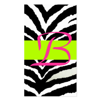 Zebra Enclosure Card Business Card