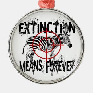 Zebra Extinction? Christmas Ornament