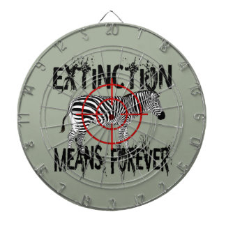 Zebra Extinction? Dartboard