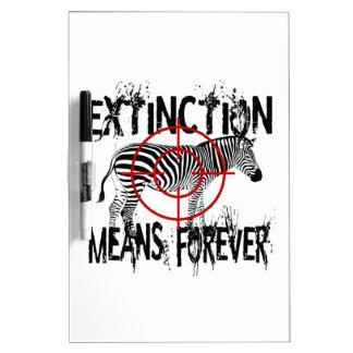 Zebra Extinction? Dry Erase Board