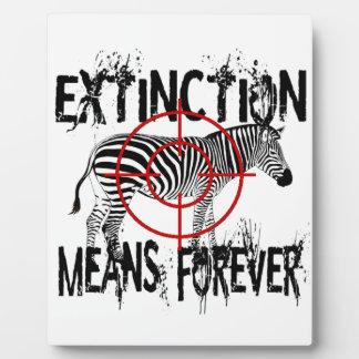 Zebra Extinction? Plaque
