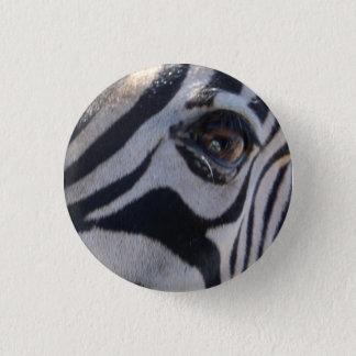 Zebra eye 3 cm round badge