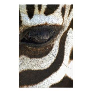 Zebra eye cute serene image customized stationery