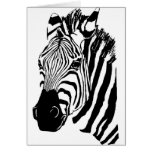 Zebra Face Greeting Card