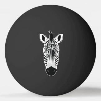 Zebra Face Ping Pong Ball