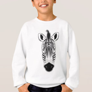 Zebra Face Sweatshirt