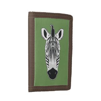 Zebra Face Trifold Wallet