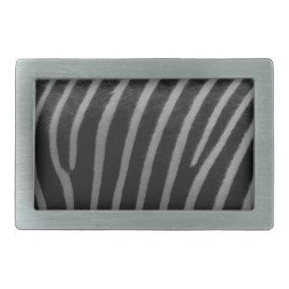 zebra Faux Fur Gifts Rectangular Belt Buckle