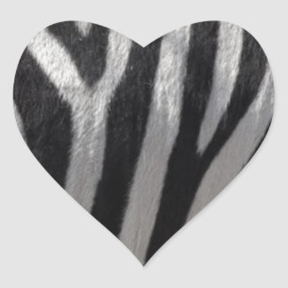 Zebra Faux Leather Heart Sticker