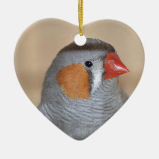 Zebra Finch Christmas Ornament