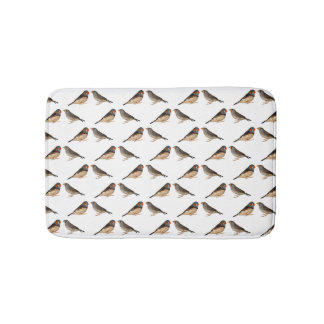 Zebra Finch Frenzy Bath Mat (choose colour)