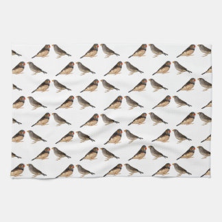 Zebra Finch Frenzy Kitchen Towel
