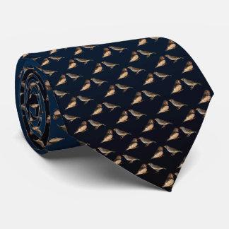 Zebra Finch Frenzy Tie (Blue/Black)