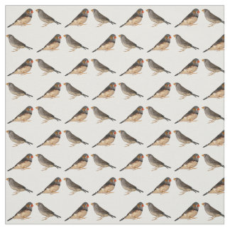 Zebra Finches Fabric (choose colour)