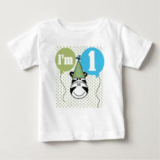 Zebra First Birthday Baby T-Shirt