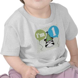 Zebra First Birthday T-shirts