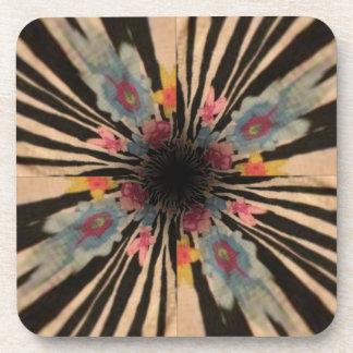Zebra Flower Coaster