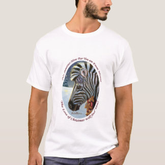 Zebra For Christmas Adult T-Shirt