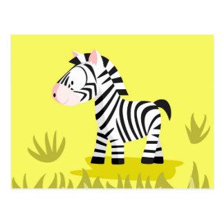 Zebra from my world animals serie postcard