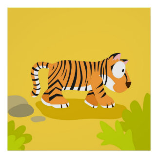 Zebra from my world animals serie poster