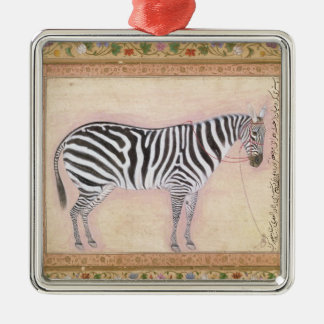 Zebra, from the 'Minto Album', 1621 (gouache on pa Christmas Ornament