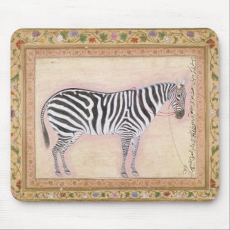 Zebra, from the 'Minto Album', 1621 (gouache on pa Mouse Mat