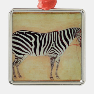"Zebra, from the ""Minto Album"", Mughal, 1621, Christmas Ornament"