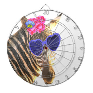 Zebra funny cute jungle zoo animal kids dartboard