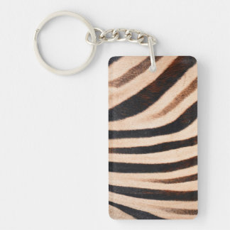 Zebra Fur Acrylic Keychains