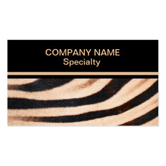 Zebra Fur Business Card Standard Business Cards