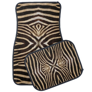 Zebra fur pattern car mats