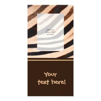 Zebra Fur Photo Card