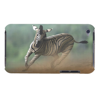 Zebra galloping over the desert landscape. barely there iPod case