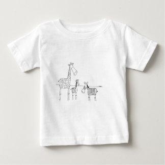 Zebra Giraffe baby t-shirt