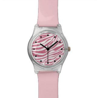 Zebra Glitter Wristwatch
