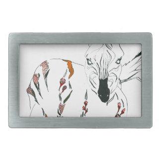 zebra goes floral belt buckles
