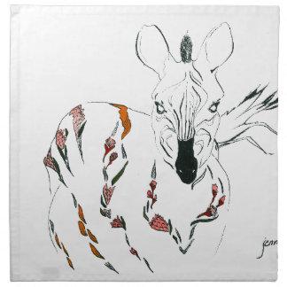 zebra goes floral napkin