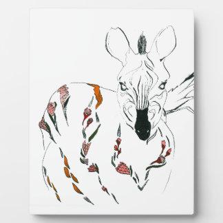 zebra goes floral plaque
