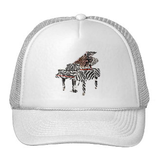 Zebra Grand Piano Cap