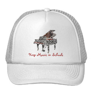 Zebra Grand Piano ~ Hat