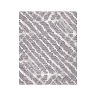 Zebra Gray and White Stripe Canvas Print