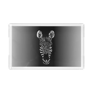 Zebra Head Acrylic Tray