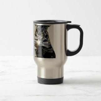 Zebra Head African Animal Low Poly Stainless Steel Travel Mug